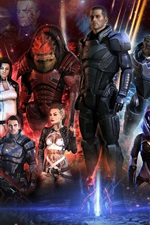 Preview iPhone wallpaper Mass Effect 3 game characters