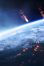 Preview iPhone wallpaper Mass Effect 3, invasion earth