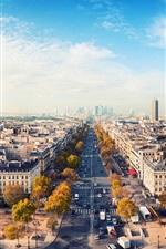 Preview iPhone wallpaper Romantic city, Paris, France, house, road, sky