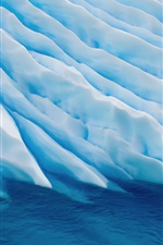 Preview iPhone wallpaper Sea above a striped ice