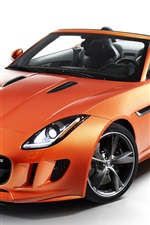 Preview iPhone wallpaper 2012 Jaguar F-type with Black Pack