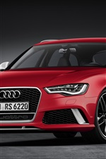 Preview iPhone wallpaper 2013 Audi RS6 Avant