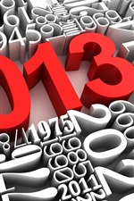 Preview iPhone wallpaper 3D creative, red 2013 New Year