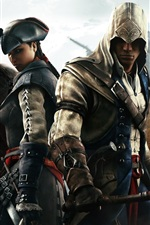 Preview iPhone wallpaper Assassin's Creed 3, four assassins