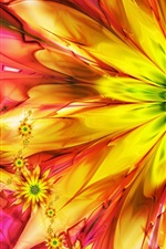 Preview iPhone wallpaper Bright abstract colorful flowers