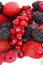 Delicious berries, strawberries, raspberries