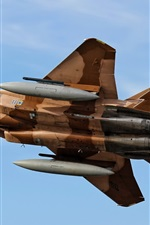 Preview iPhone wallpaper F-15 Eagle, aircraft, flying