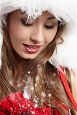 Preview iPhone wallpaper Fresh and lovely Christmas girl