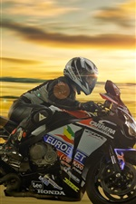 Preview iPhone wallpaper Honda motorcycle, racing