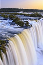 Preview iPhone wallpaper Iguazu waterfall, Argentina and Brazil at the junction