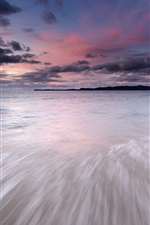 Preview iPhone wallpaper Japan landscape, sea, coast, evening, sky, sunset, clouds
