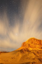 Preview iPhone wallpaper Northern Lights and the stars at night in the desert