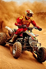 Preview iPhone wallpaper Sports, motorcycle race, dusty