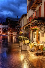 Preview iPhone wallpaper Switzerland Zermatt night streets and lights