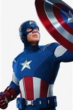 미리보기 iPhone 배경 화면 Avengers, 철 남자, 선장 미국