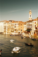 Preview iPhone wallpaper Tourist destination, Italy, Venice, Watertown
