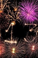 iPhone обои 2013 Happy New Year, фейерверки творческие, красивые ночное небо