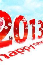 미리보기 iPhone 배경 화면 2013 신년 축하, 눈, 선물