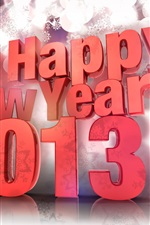 Preview iPhone wallpaper 3D design, Happy New Year 2013