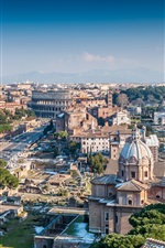 Preview iPhone wallpaper Architectural landscape of the city of Rome, Italy