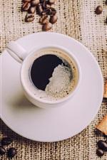 iPhone обои Ароматный кофе, чашки, блюдца, кофе, ложка