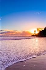 Preview iPhone wallpaper Australia Queensland, Gold Coast, beautiful sunset