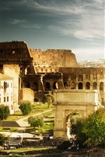 Preview iPhone wallpaper Colosseum, Italy Rome, Arch of Constantine, hot tourist city