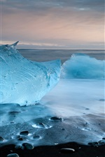 Preview iPhone wallpaper Crystal blue sea ice