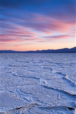 Preview iPhone wallpaper Dry lake, sunset, dusk