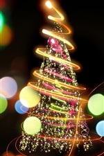 Preview iPhone wallpaper Fire tree, beautiful christmas new year colorful lights