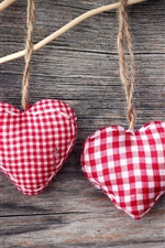 Preview iPhone wallpaper Handicrafts, heart-shaped cloth jewelry
