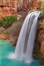 Preview iPhone wallpaper Havasu Falls, Grand Canyon National Park in Arizona