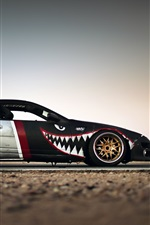 Preview iPhone wallpaper Nissan 300ZX supercar close-up