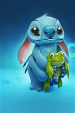 Preview iPhone wallpaper Stitch with frog