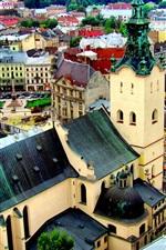 Preview iPhone wallpaper Urban architectural landscape in Ukraine