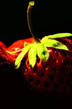 Preview iPhone wallpaper Vitamin-rich fruit, strawberry close-up photography