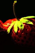 Rico em vitaminas de frutas, fotografia close-up de morango