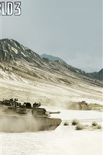 Preview iPhone wallpaper Battlefield 3, tanks and fighters in the war