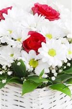 미리보기 iPhone 배경 화면 부케의 카밀레 꽃