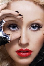 Preview iPhone wallpaper Christina Aguilera 09