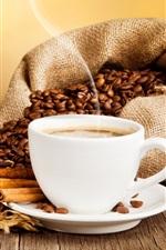 iPhone обои Чашка кофе, напитки, кофе, корица, блюдца