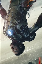 Preview iPhone wallpaper Iron Man 3, Injured by fighting