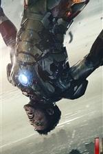 iPhone обои Iron Man 3, раненых в результате боевых действий