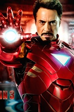Preview iPhone wallpaper Iron Man 3, Robert Downey Jr. 2013 movie
