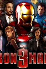 iPhone обои Iron Man 3 фильм HD
