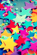 Preview iPhone wallpaper Large and small, five-pointed star, colorful of colors