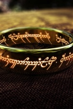 Preview iPhone wallpaper Lord of the Rings, one of the ring close-up