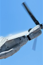 Preview iPhone wallpaper V-22 Osprey transport aircraft flight