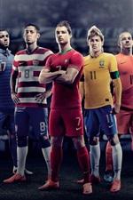iPhone обои Европы 2012 года по футболу, звездный игрок фото