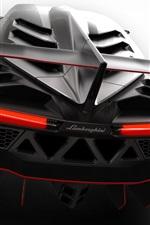 Preview iPhone wallpaper 2013 Lamborghini Veneno, rear close-up